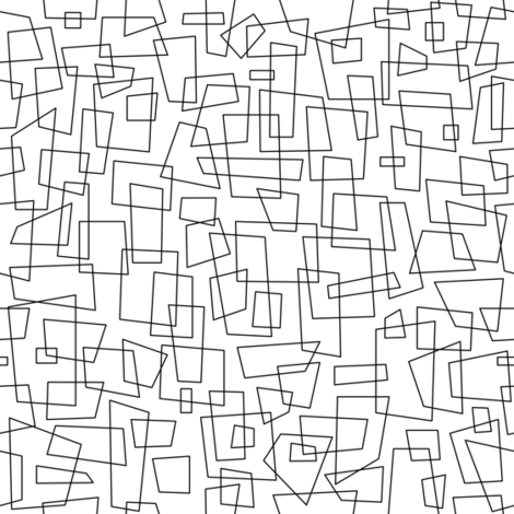 Squared - White & Black fabric by tonyanewton on Spoonflower - custom fabric