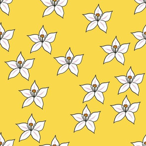 Lemon flower repeat - yellow
