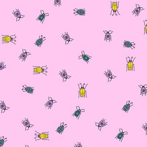Small beetles - pink