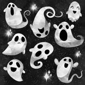 Kawaii halloween ghosts