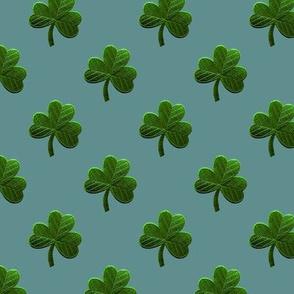 GREEN FELT CLOVERS
