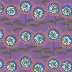 Dandelions at Nollers Lake Purple-01