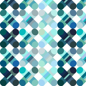 geometric graphic cross large  turquoise blue green
