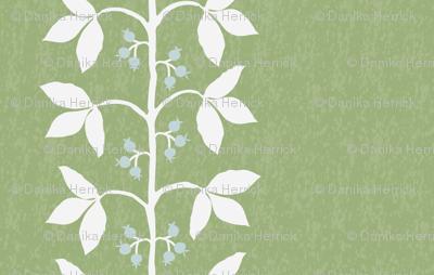 Anne Custom Vine Green Texture