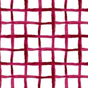Noel Collection - Watercolor Lattice - Red