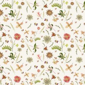 Pink Meadow Garden ivory sm