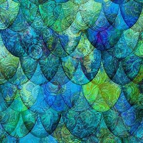 Seadragon in blue + green by Su_G_©SuSchaefer (Animal print)