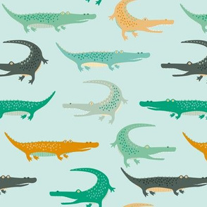 crocodiles on mint