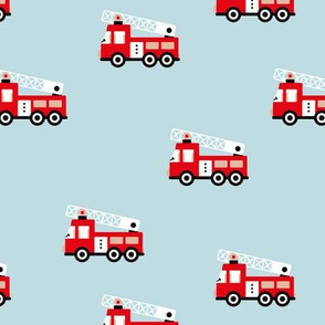 Fire engine cool fire trucks for fire fighter kids light blue red