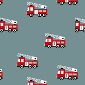 Fire engine cool fire trucks for fire fighter kids winter blue red