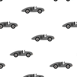 Cool minimal retro race cars vehicle designs for kids monochrome white black boys