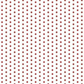 Sunny Sails / Nautical colors -Red Polka-Dots on White Tiny/micro