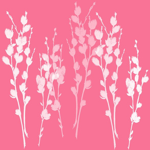 Pussywillow Silhouettes | Azalea Pink