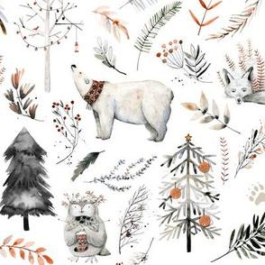Winter Woodland Wonderland // White