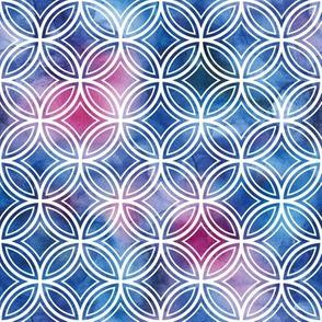watercolor geometric