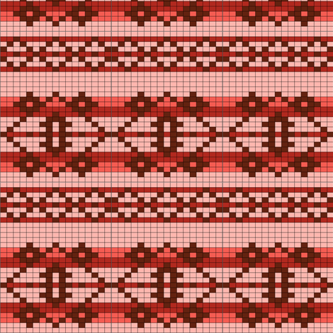 basicchart-red fabric by spunky_eclectic on Spoonflower - custom fabric