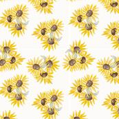 FALL sunflowers seamless