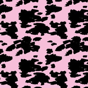 Minimal love animal skin cow spots camouflage army fur summer pink girls SMALL