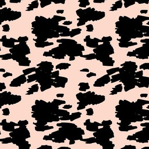 Minimal love animal skin cow spots camouflage army fur soft blush girls SMALL