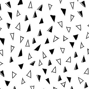 Tumbling Triangles - black on white