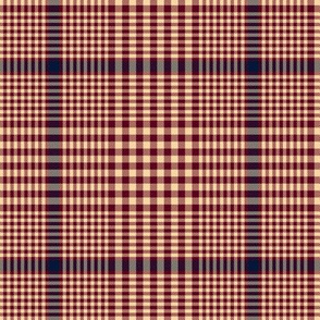 "Prince of Wales check, 5"" maroon-navy-champagne"