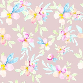 Beachy Florals // Stormy Pink