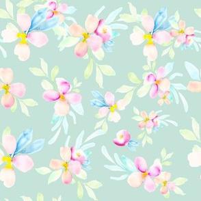 Beachy Florals // Skeptic Green