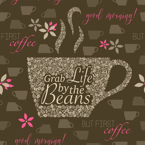 life by the beans - brown pink