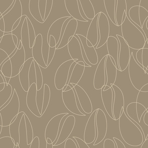 coffee beans outline