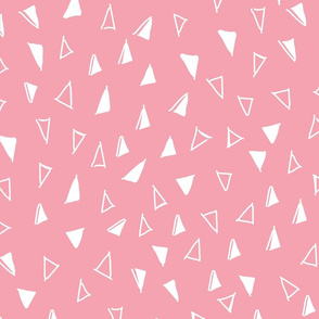 Tumbling Triangles - white on lt pink