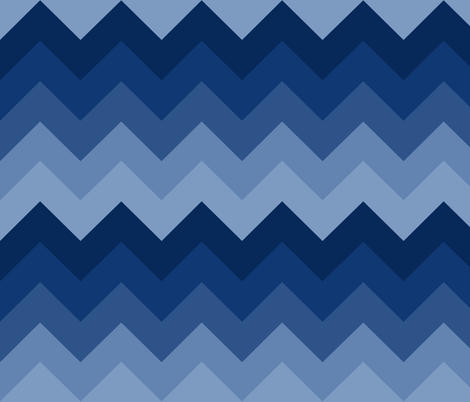 Navy Blue Chevron Ombre fabric by decamp_studios on Spoonflower - custom fabric
