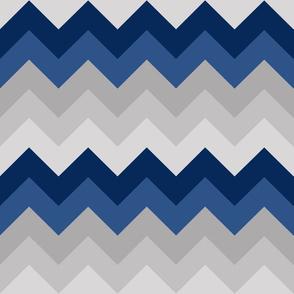 Navy Blue Gray Grey Chevron Ombre