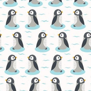 Cute cartoon penguin chicks vector illustration
