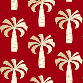 Hawaiian Vintage Palm Tree - Red