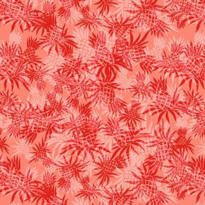 Hawaiian Pineapple Camo- Living Coral