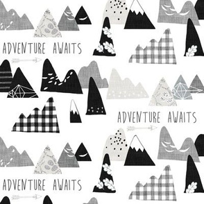 Adventure Awaits (black and white) SMALL