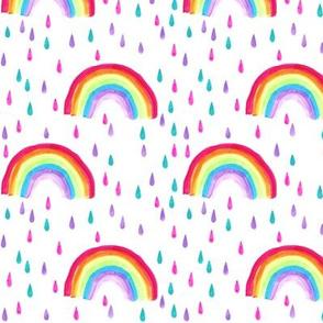 Rainbow and Raindrops