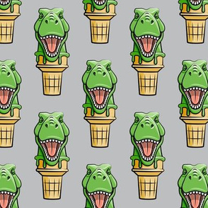 dino trex ice cream cones - grey  - LAD19