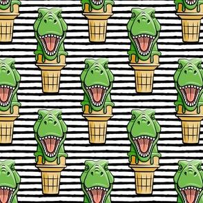 dino trex ice cream cones - black stripes  - LAD19