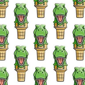 dino trex ice cream cones - white  - LAD19