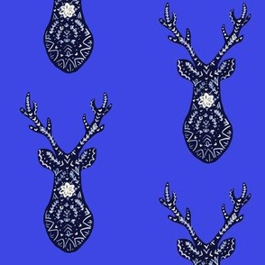 Scandinavian Deer Blue