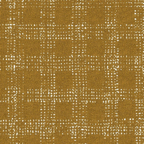 Mud Cloth Textured Check Yellow and White