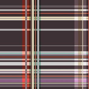 Colorful tartan | 01 – brown, orange purple