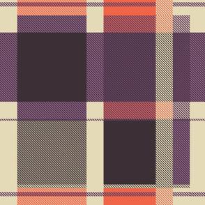 Colorful tartan | 04 – purple orange