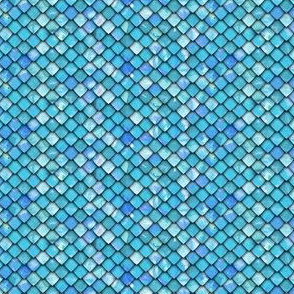 (micro scale) dragon scales - blue 2 - C19BS