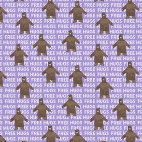 (micro scale) free hugs - purple C19BS