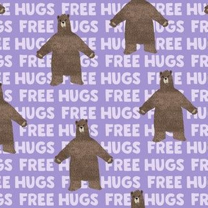 (small scale) free hugs - purple C19BS