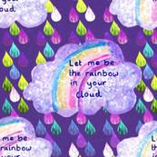 Rainbow cloud and raindrops