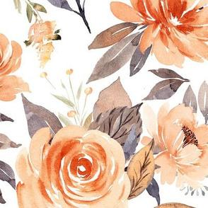 Large // Pretty Peach Flowers