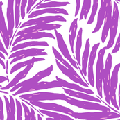 Giant Illustrated Palm Leaves -Violet